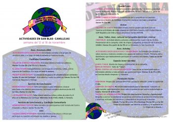 Cartel Semana actividades