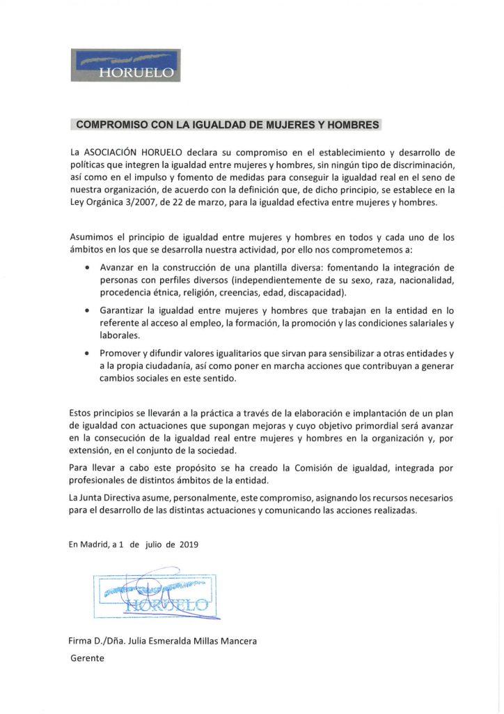 Compromiso con la igualdad Horuelo-1